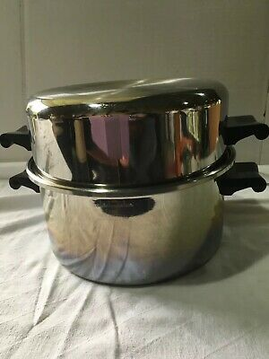 Saladmaster T304S 6 QUART Stainless Steel Stock Pot/DUTCH OVEN w/High Dome Lid
