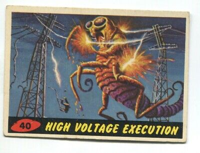 1962 Topps Mars Attack #40 High Voltage Execution EX