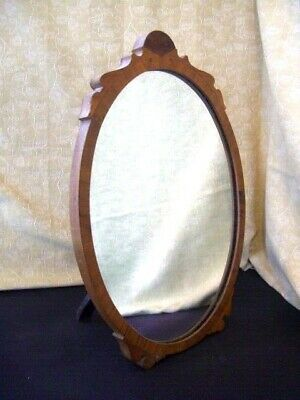 Antique Mahogany Wood Mirror Table Top Toilet Dressing Table Freestanding
