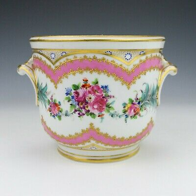 Antique Dresden Porcelain - Hand Painted Floral Decorated Planter - Pretty!