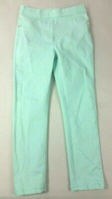 GEORGE Girls JEGGINGS 5-6 Years Mint Green Skinny Elastic Waist