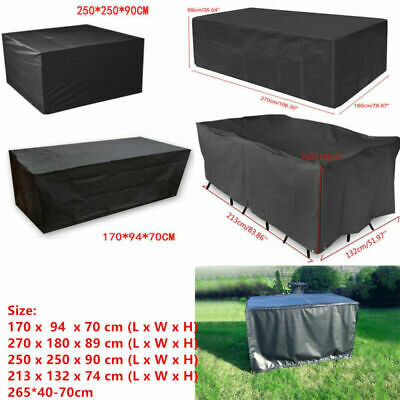 Extra Large Garden Rattan Outdoor Set Lounger Furniture Cover Patio Table IN UK
