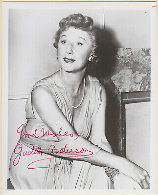 Judith Anderson Signed Autographed B&W Picture Headshot - Melchior Collection