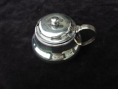 1815 fine large Georgian George 111 silver mustard pot  by R Hennell