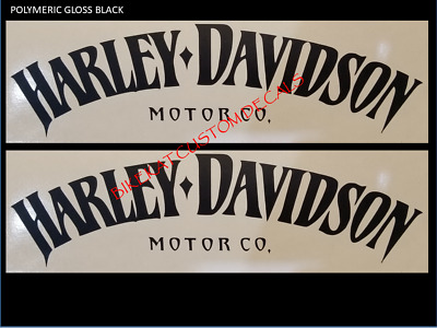 2 x HARLEY DAVIDSON style gas Tank decal sticker Harley various colours