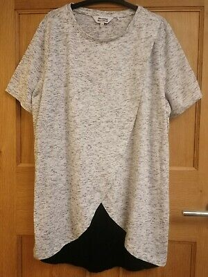 Mothercare BLOOMING MARVELLOUS Maternity / Nursing Grey Top Size M