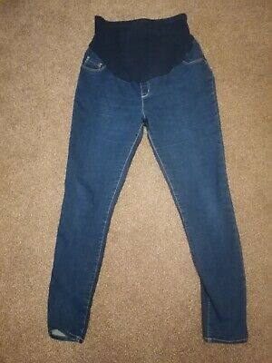 George Maternity Over Bump Skinny Jeggings, Dark Blue Pregnancy Jeans Size 12