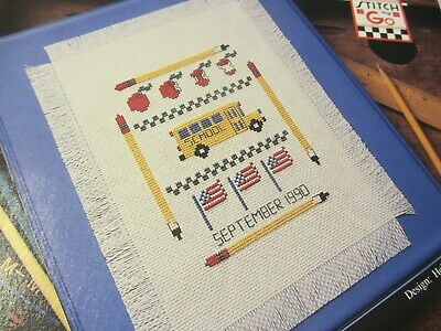 Back To School Sampler Cross-Stitch Pattern- Removed From Magazine