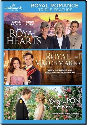ROYAL ROMANCE TRIPLE FEATURE New DVD Hallmark Channel Hearts Matchmaker Prince