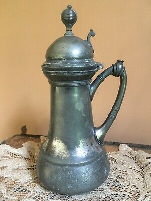 Antique Patent 1865 MANNING BOWMAN  SILVERPLATE  Silver Plate Syrup Pitcher
