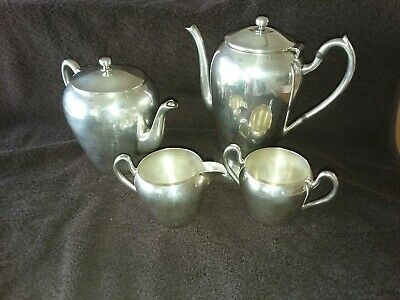 Vintage Academy silver on copper 4 piece coffee and tea service set