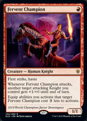 **x4 Fervent Champion** MTG Magic Throne of Eldraine ELD ~ NM MINT
