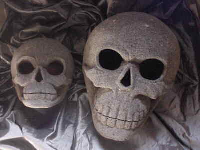 The GIANT STONE SKULL,HUGE ENLIGHTEN MASTER TEACHER,CRYSTAL SKULL,ANCIENT MAGIC