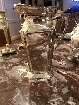 Sterling Silver Plated Water Pitcher