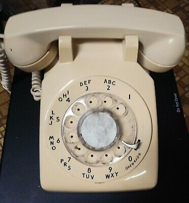 Vintage Tan Telephone Bell System Property Not For Sale Western Electric Rare""