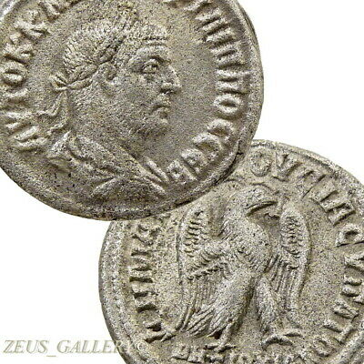 PHILIP I Silver Tetradrachm Eagle SC Large 26mm Ancient Roman Empire Coin Pr.445