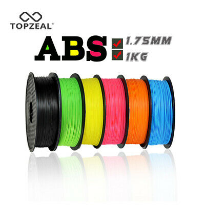TOPZEAL 3D Printer ABS Filament 1.75mm Dimensional Accuracy +/-0.02mm 1KG 343M