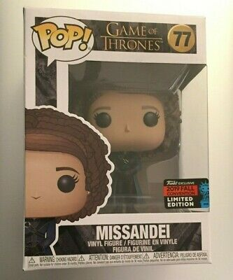 Game of Thrones MISSANDEI Funko Pop #77 2019 NYCC Convention Exclusive Figure