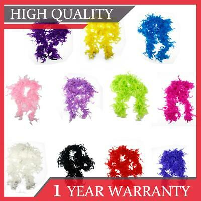 180cm Feather Boa Accessory Fluffy Burlesque Dance Fancy Dress Hen Night Party