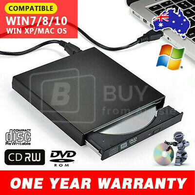 USB 2.0/3.0 Slim Portable External DVD/RW CD Combo Drive Burner Reader Player