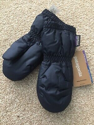 Patagonia Baby Puff Mitts Water Resistant Gloves Mittens, 6-12M New Navy