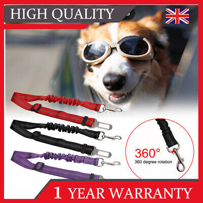 Pet Dog Car Seat Belt Anti-shock Clip Bungee Lead Vehicle Safety Harness Travel