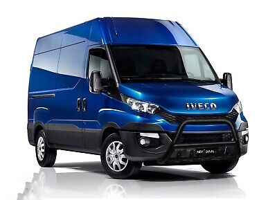 Iveco Daily Black Axle Nudge A-Bar Stainless Steel Bull Bar 2008-2014