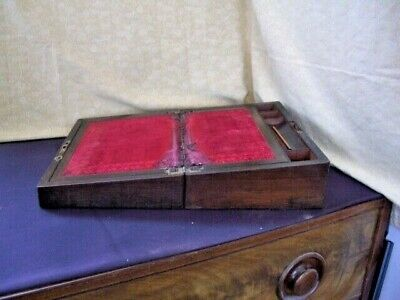 Victorian Writing Slope/ Box~ NO Key ~ needs some work