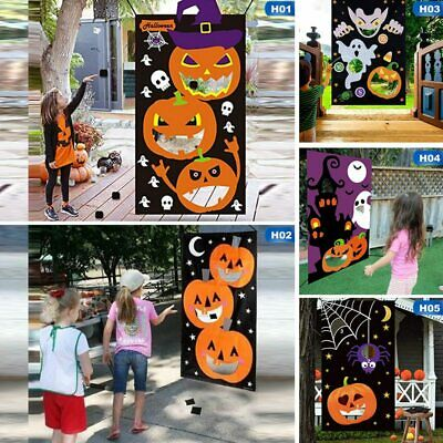 Excellent Halloween Party Games Hanging Pumpkin Bean Bag Toss Game 3 Onthecornerstone Fun Painted Chair Ideas Images Onthecornerstoneorg