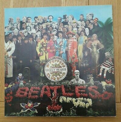 Beatles Sgt Peppers Lonely Hearts LP Vinyl & Insert PCS 7027 UK Reissue EX/EX