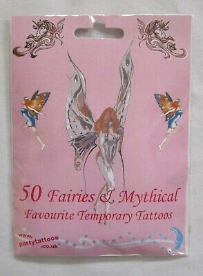 NEW 50 x Fairies & Mythical Favourite Temporary Tattoos by party tattoos