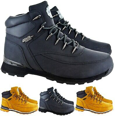 New Mens Winter Ankle Hiking Walking Lace Up Grip Sole Trainers Boots Shoes Size