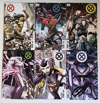 POWERS of X #1-6 (Marvel, 2019) NEW CHARACTER Variants - Full Set - Unread!