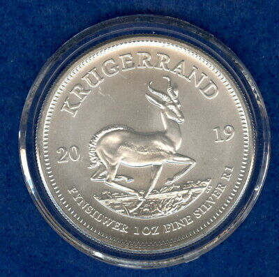 2019 1 oz .999 Fine Silver South Africa Krugerrand Coin