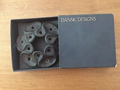Vintage Dansk Candle Holder Holds 12 Tapers Black Wrought Iron In Original Box