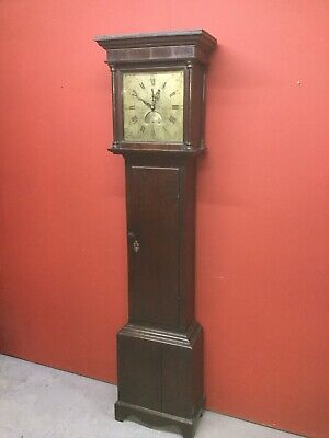 Antique Longcase Grandfather Clock By Francis Shuttleworth In Working Order