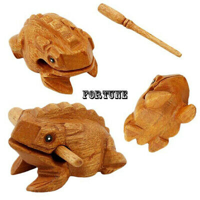 Percussion Art Figurines Lucky Craft Money Frog Musical Instrument Wooden Block