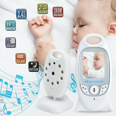 Wireless Baby Monitor 2.4GHz Color LCD Audio Talk Night Vision Digital Video New