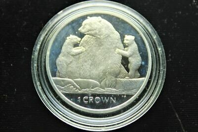 2013 1 Crown Isle Of Man Silver Proof
