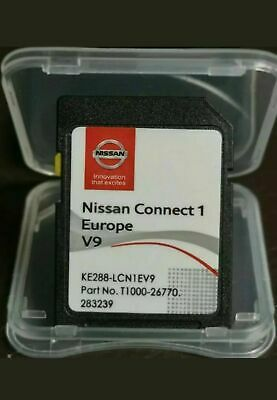 Nissan Connect 1 V9 Maps Latest Sat Nav Sd Card 2019/2020