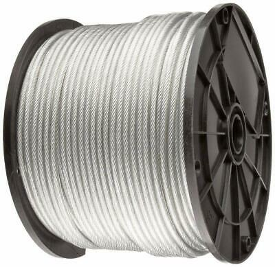 "Vinyl Coated Stainless Steel 304 Cable Wire Rope 7x7, Clear, 1/16"" - 1/8"""