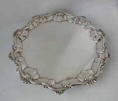 Nice Antique George III Solid Sterling Silver Salver/Tray 1773/ Dia 16cm/ 210g