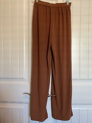 Linea by Louis Dell'Olio Moss Crepe Pants - X-Small - Cinnamon
