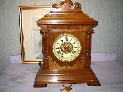 19c walnut Ansonia mantle clock