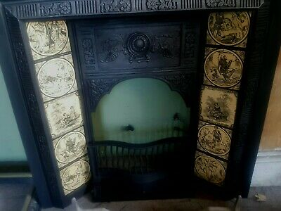 cast iron tiled Victorian fireplace I deliver