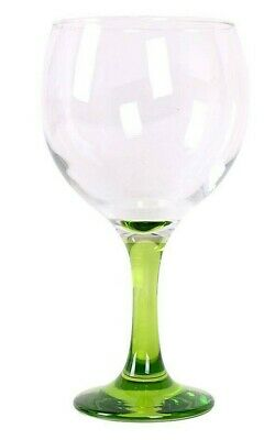 12 GLASSES Gin and tonic cocktail balloon glasses 650ml GREEN foot