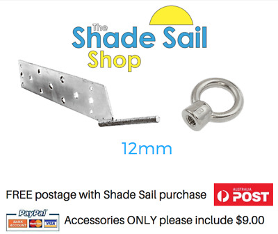 Fascia Rafter Bracket includes 12mm Stainless Steel Eye Nut The Shade Sail Shop