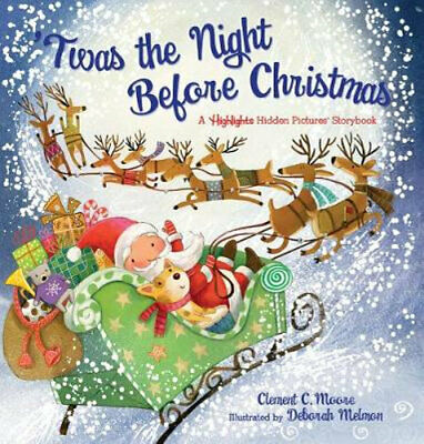 NEW 'Twas the Night Before Christmas By Clement Clarke Moore Hardcover