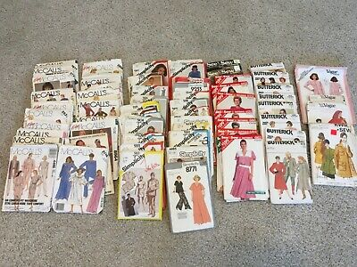 Lot of 73~VINTAGE Sewing Patterns~1980's~Butterick, McCall, Simplicity & More