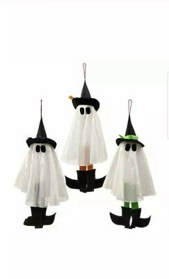 """Halloween Decorations Scary 24"""" Hanging Witch Ghost ~ Assorted (Qty 3) Random"""